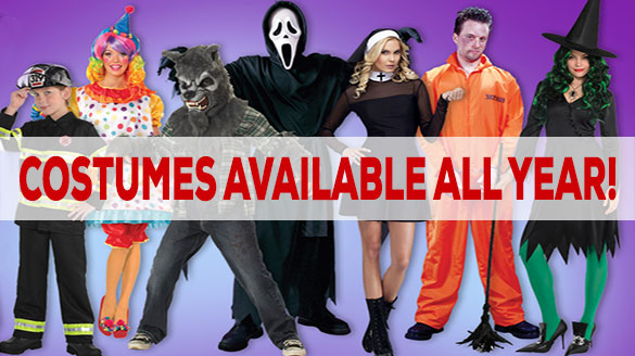 Costumes available all year!